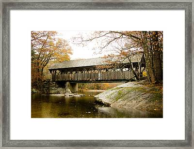 Covered Bridge  Framed Print by Allan Millora