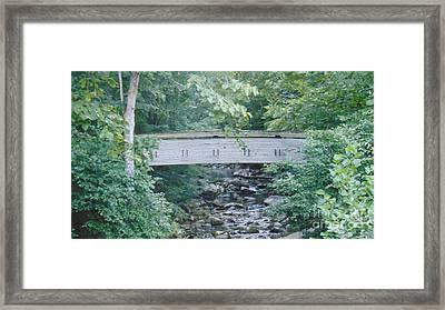 Covered Bridge At Crabtree Falls Framed Print