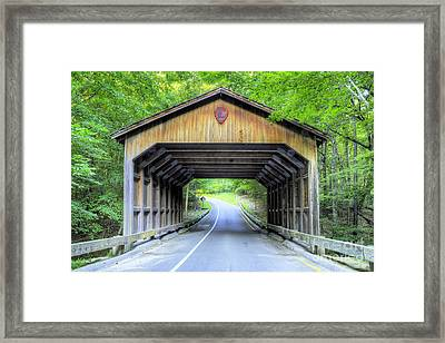 Covered Bridge At Sleeping Bear Dunes Framed Print by Twenty Two North Photography