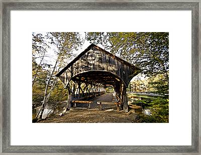Framed Print featuring the photograph Covered Bridge by Bill Howard