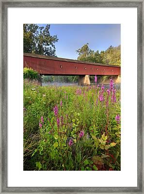 Covered Bridge West Cornwall Framed Print