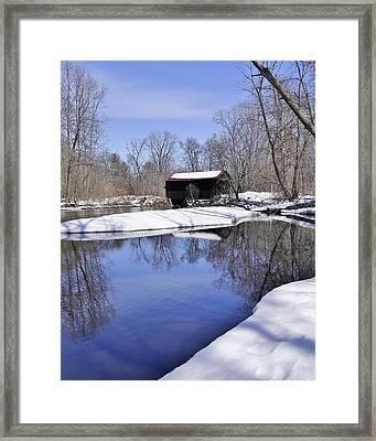 Covered Bridge Framed Print by Carol Toepke