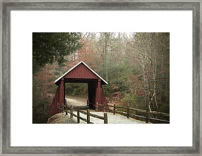 Covered Bridge Framed Print by Cindy Rubin