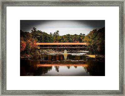 Covered Bridge Conway New Hampshire Framed Print by Michael Donovan