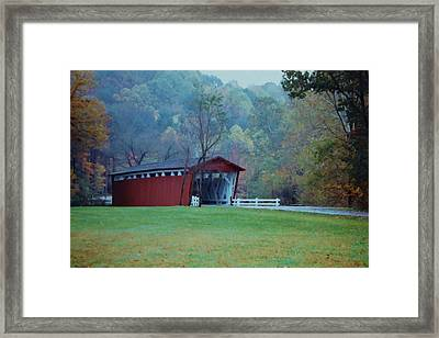 Framed Print featuring the photograph Covered Bridge by Diane Alexander