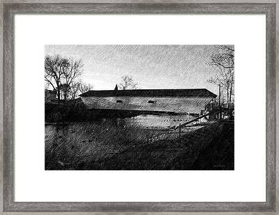 Covered Bridge Elizabethton Tennessee C. 1882 Framed Print