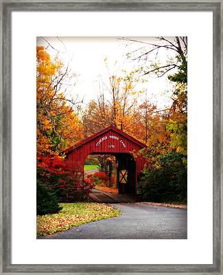 Covered Bridge Farm Framed Print
