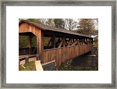 Framed Print featuring the photograph Covered Bridge by Gary Wightman
