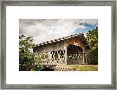 Covered Bridge In Nebraska Framed Print