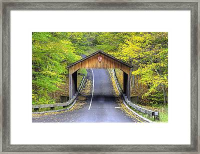 Covered Bridge In Sleeping Bear Dunes Framed Print by Twenty Two North Photography