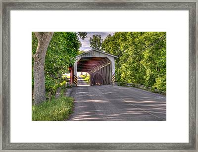 Framed Print featuring the photograph Covered Bridge by Jim Thompson