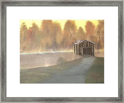 Covered Bridge Framed Print by James Waligora