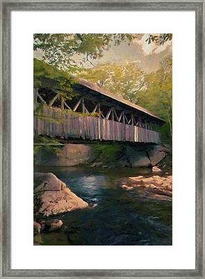 Framed Print featuring the painting Covered Bridge by Jeff Kolker