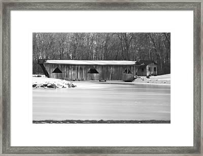 Covered Bridge Framed Print by Jennifer  King