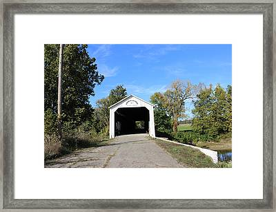 Framed Print featuring the photograph Covered Bridge by John Mathews