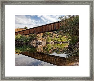 Covered Bridge Knights Ferry Ca Framed Print by Troy Montemayor