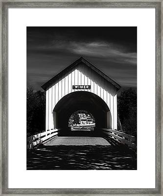 Covered Bridge Framed Print by Melanie Lankford Photography