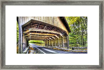Covered Bridge On Pierce Stocking Scenic Drive Framed Print