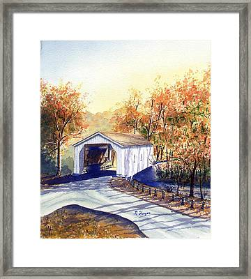 Covered Bridge On The Lochatong Framed Print
