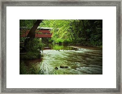 Covered Bridge Over French Creek Framed Print