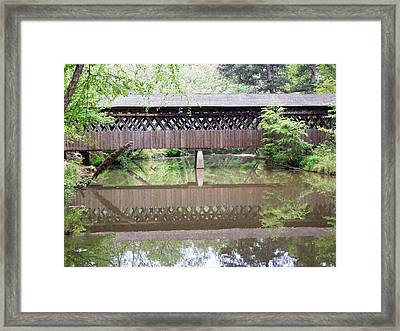 Covered Bridge Framed Print by Pete Trenholm