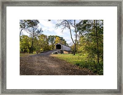 Framed Print featuring the photograph Covered Bridge by Phil Abrams