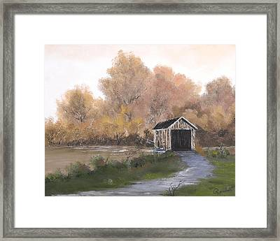 Covered Bridge Framed Print by Randall Brewer