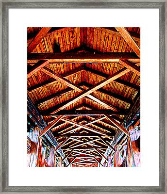 Covered Bridge Structure Framed Print by Randall Weidner