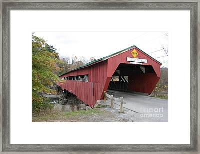 Covered Bridge Taftsville Framed Print by Christiane Schulze Art And Photography