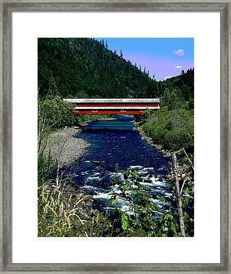 Covered Bridge The Office Bridge Framed Print by Charles Shoup