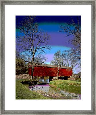 Covered Bridge Thurmont Maryland Framed Print by Charles Shoup