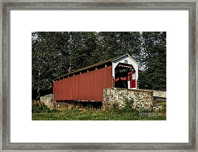 Covered Bridge Framed Print by Timothy Clinch