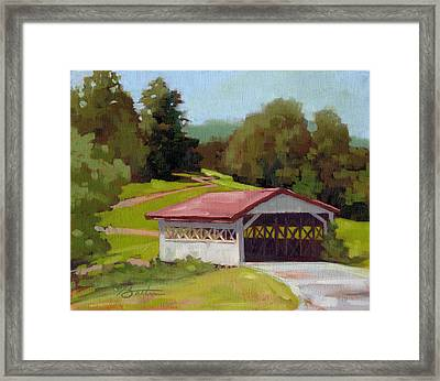 Covered Bridge Framed Print by Todd Baxter