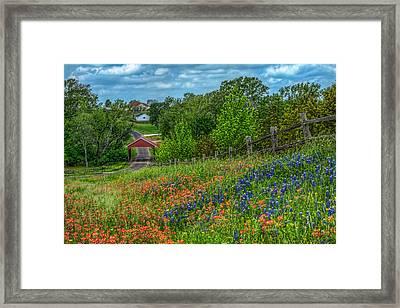 Covered Bridge Framed Print by Tom Weisbrook