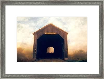 Covered Bridge Framed Print by Tracy Munson