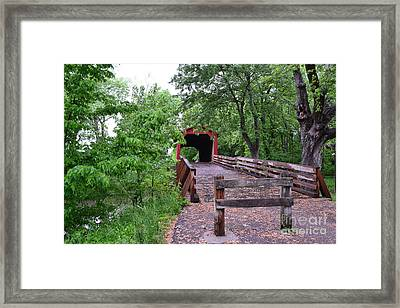 Framed Print featuring the photograph Covered Bridge by Utopia Concepts