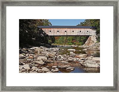 Covered Bridge Vermont Framed Print by Edward Fielding
