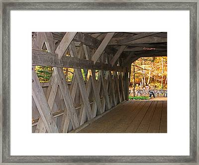 Covered Bridge Framed Print by Victoria Sheldon