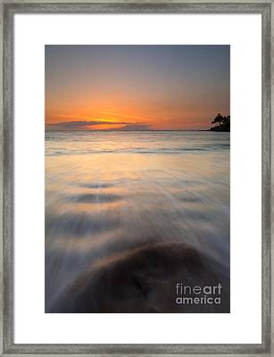 Covered By The Tides Framed Print