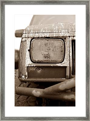 Covered In Mud Framed Print