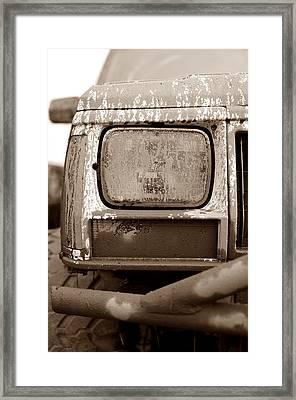 Covered In Mud Framed Print by Luke Moore
