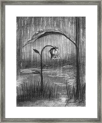 Covered In Prayer Framed Print by J Ferwerda