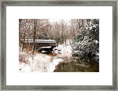Covered In Snow Framed Print