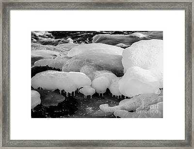 Covered Rocks Framed Print