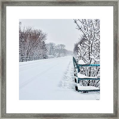 Covered Tracks Framed Print