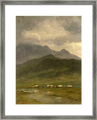 Covered Wagons Framed Print by Albert Bierstadt