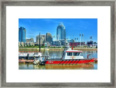 Covington Fire Boat Framed Print