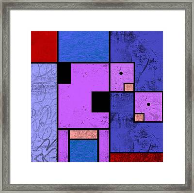 Cow And Calf Framed Print by Kenneth North