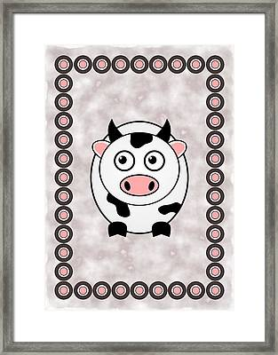 Cow - Animals - Art For Kids Framed Print