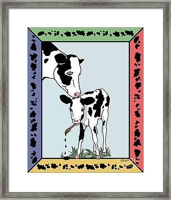 Cow Artist Cow Art Framed Print by Audra D Lemke